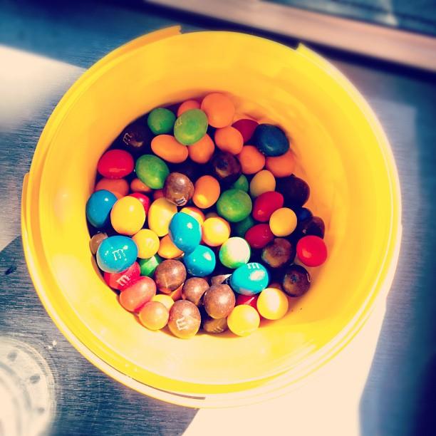 Bucket full of M&M's addictive...