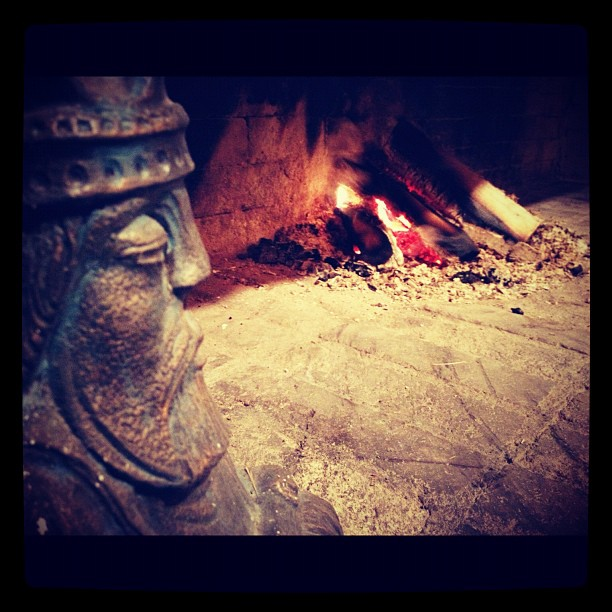 Recovering warmth by the fire