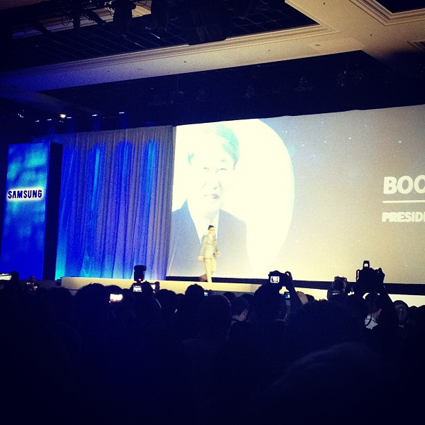 Samsungのプレスカンファレンス。社長が語るテレビの未来!
