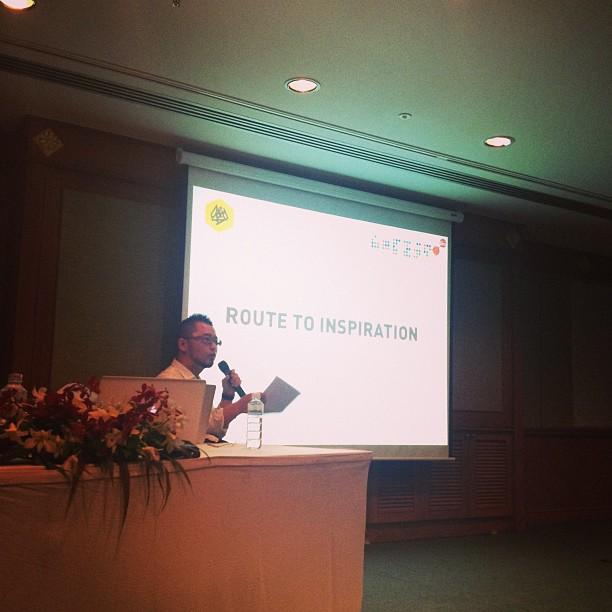 関根光才氏! Sekine speaking @ D&AD seminar