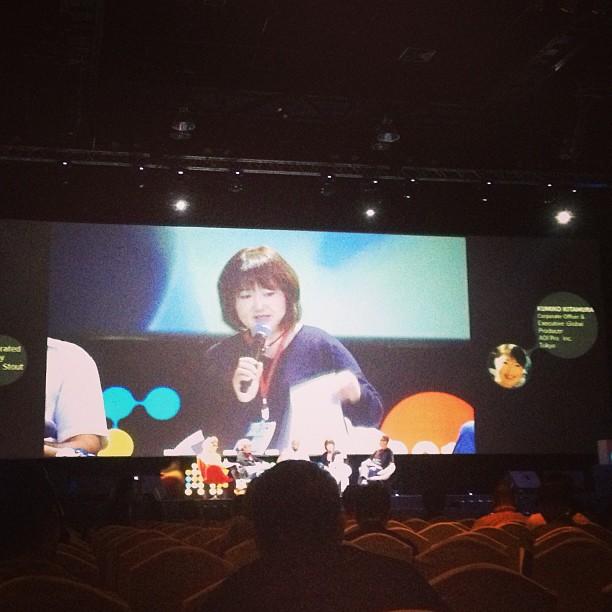 Kumiko Kitamura speaking at IT TAKE TWO The Importance of Collaboration