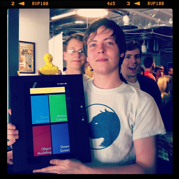 "{SXSW} At the ATX Startup Crawl: Lynx Laboratories guys with their creation of ""the world's first true 3D camera""! It can capture environment, object, as well as create 3D stop-motion☆ Lynx's kickstarter→kck.st/WCTRJ2"