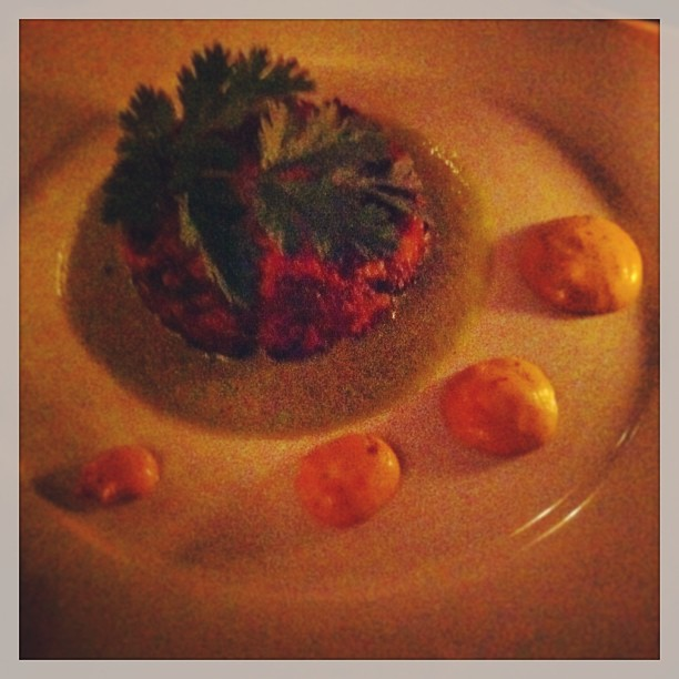 { #SXSW2012} Appetizer of the evening---scrumptious crab cake♡