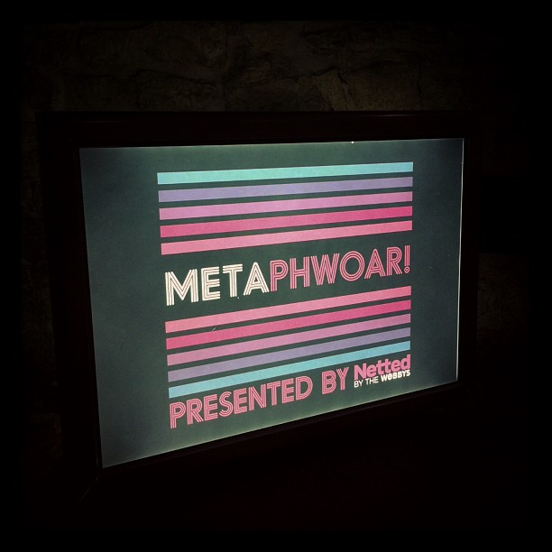 { #SXSW2013} @Metaphwoar Netted by the Webbys came to Austin from London! 「sexy metaphor」をキャッチコピーに、隠喩を使ったアイディア発表会はこれから!