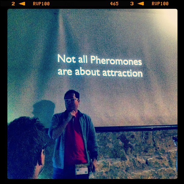 """{ #SXSW2013} @Metaphwoar Netted by the Webbys came to Austin from London! """"Humor is like pheromones"""" by Ben Huh of Cheezburger☆"""
