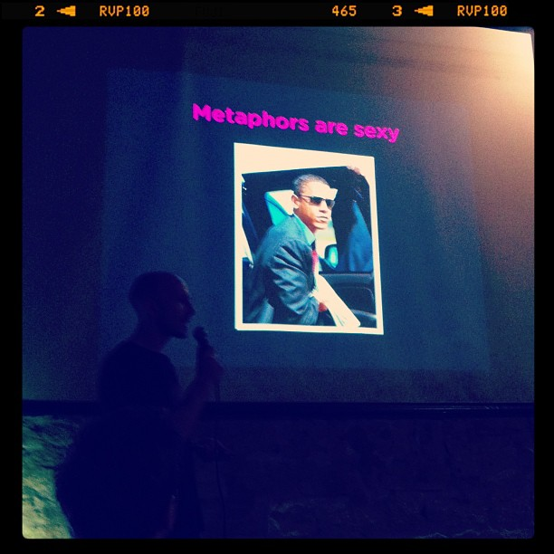{ #SXSW2013} @Metaphwoar Netted by the Webbys came to Austin from London! Obama大統領も「sexy metaphor」のプロです!