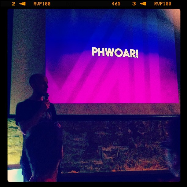"{ #SXSW2013} @Metaphwoar Netted by the Webbys came to Austin from London! ""Phwoar""はイギリスの1世代前のスラングで、「ホット!!」の表現です♡"
