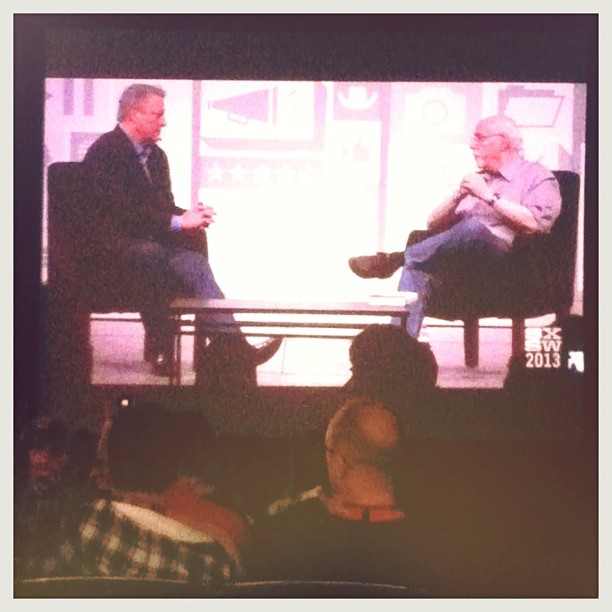 { #SXSW2013} An invigorating session about The Future with Al Gore (The Reality Climate Project) & Walter Mossberg (All Things Digital)!! 著作「The Future: Six Drivers of Global Change」を出版したAl Goreの辛口観察に脱帽!