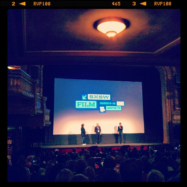 """{ #SXSW2013} Austin-born Dir. Richard Linklater Q&A session after the screening of """"Before Midnight""""---9 more years later, an even more poignant story ; _ ;"""