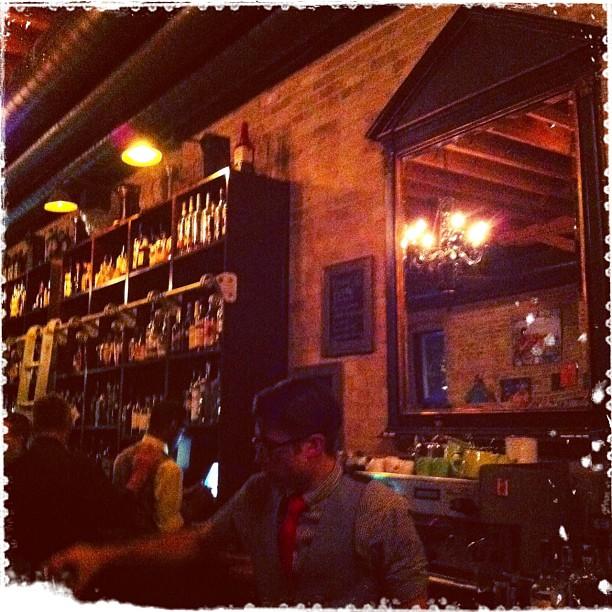 { #SXSW2013} B-Reel party! Chandeliers and dandy bartenders.