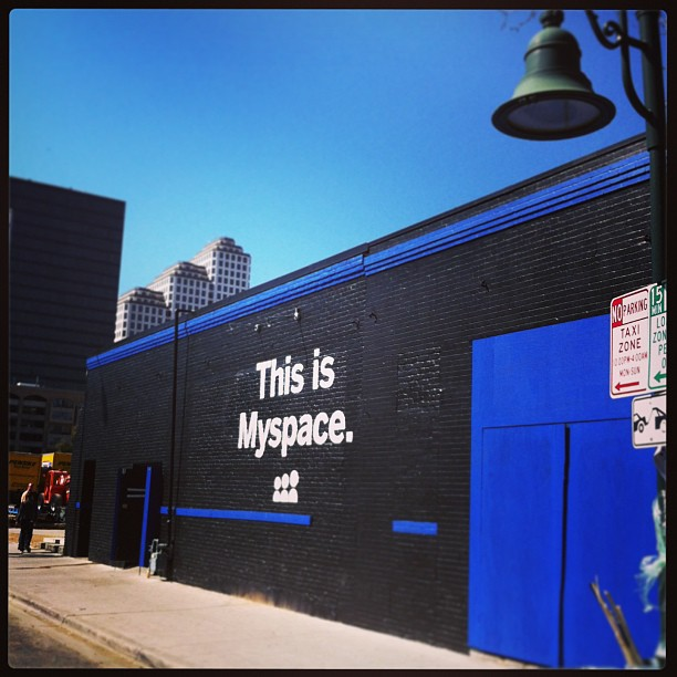 { #SXSW2013} Has the new MySpace arrived?! On our way to check-out the Samsung GALAXY experience☆