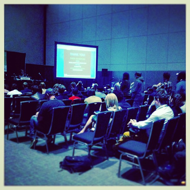 { #SXSW2013} People in the music industry lining up for Q&A w/ Theda Sandiford. Learned a thing or two about effective digital marketing☆ デジタル・マーケティングのコツをミュージシャンのSNS戦略から学ぶ♪セミナー後、質疑応答の長列☆