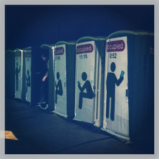 { #SXSW2013} Public toilets that time the length of use! 使用時間を計るトイレ。入っている人は少しドキドキですね!