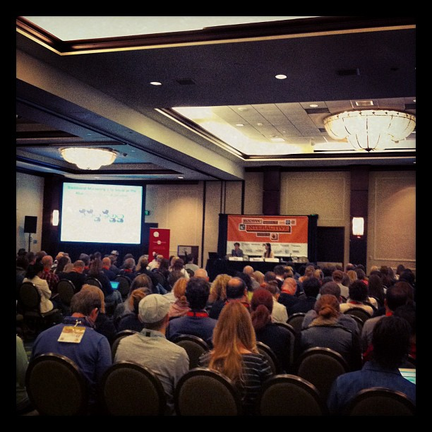"""{ #SXSW2013} """"Say Goodbye to Corporate Advertising as We Know It"""" by hearsaysocial & Wells Fargo on social media policies for corporate."""