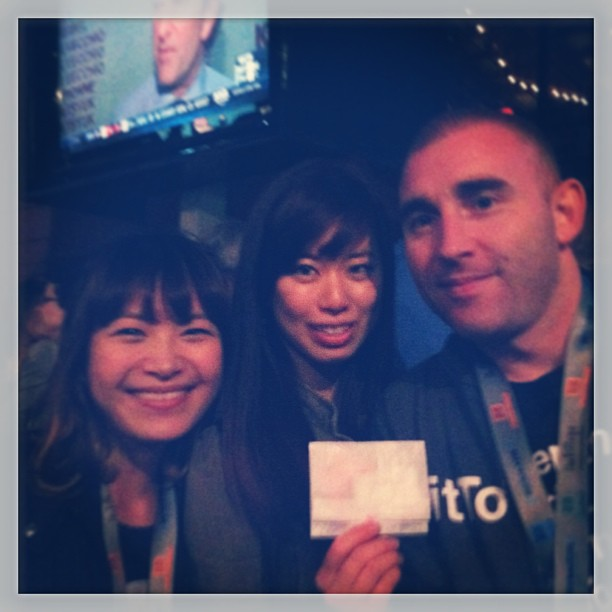 { #SXSW2013} Tool of NA Star Bar/Taco from a Truck. Matthew & Jennifer (BitTorrent, San Francisco) found Mandy in the sea of people!♬