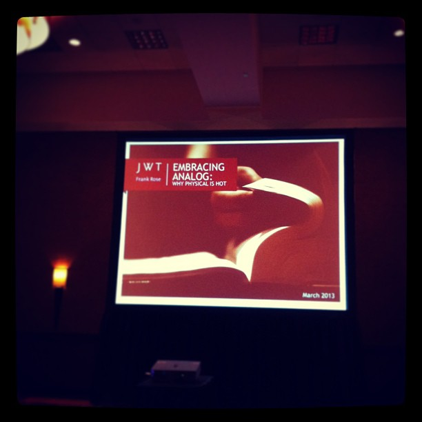 { #SXSW2013} With advancement of digital, are we leaving out the equally indispensable physical?