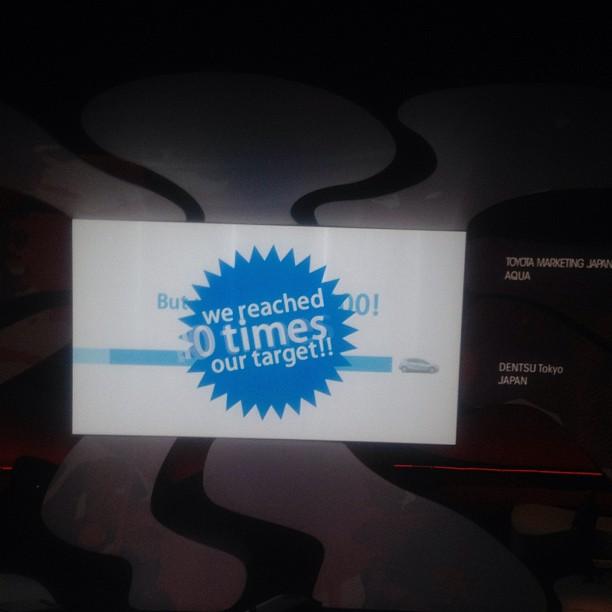 メディアライオンゴールド受賞したトヨタAQUAソーシャルフェス、電通。おめでとうございます!