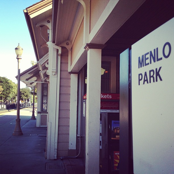 Arrived at Menlo Park.