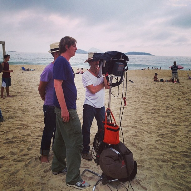 Director and the beach
