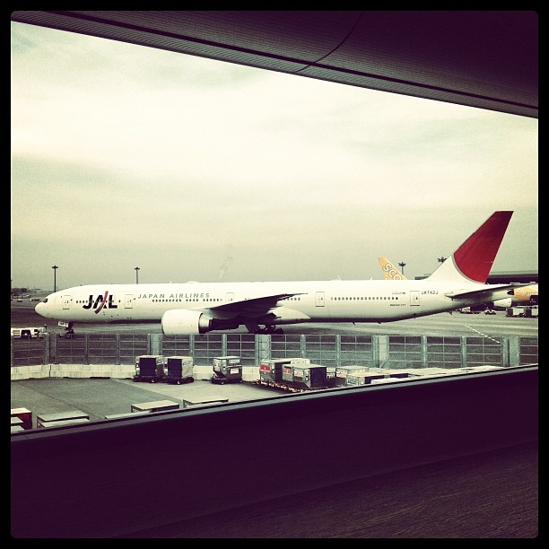 Heading to KL on aboard a  JAL flight!