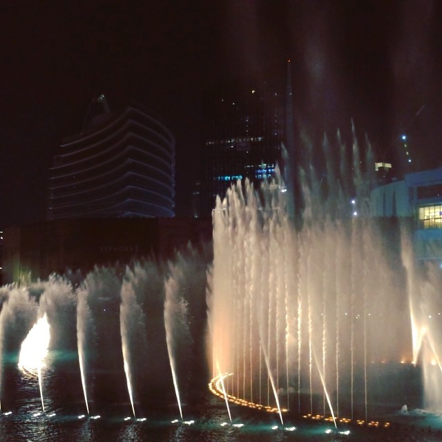 Water show in Dubai