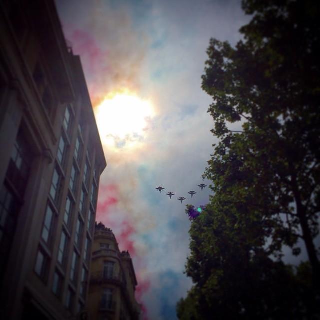 Bastille Day skies, hurrah!