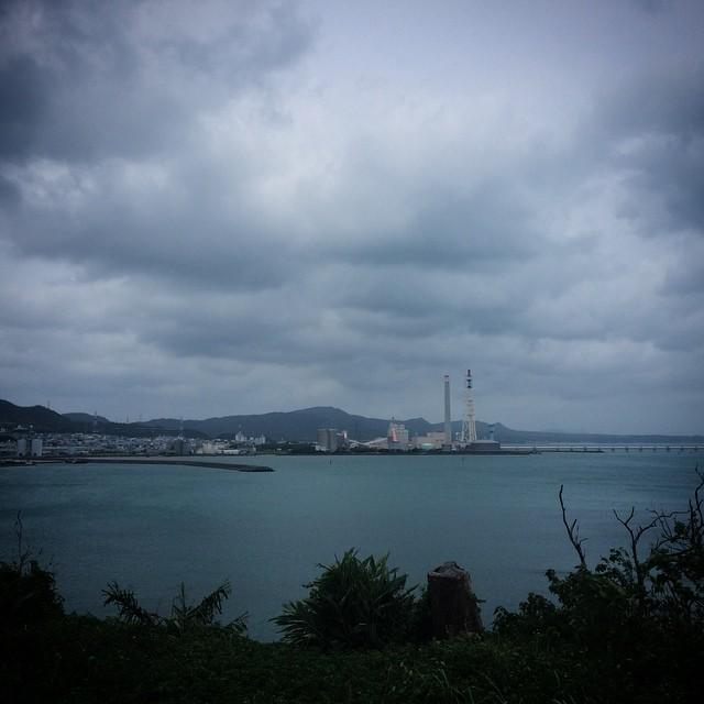 沖縄は台風でした。。。