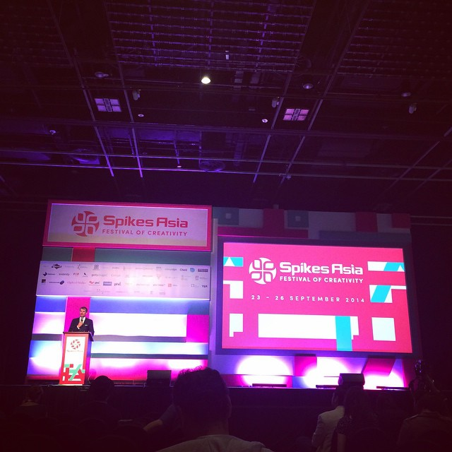 Last day of Spikes Asia 2014. Droga5 seminar