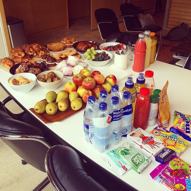 Shoot day 1 in Amsterdam. Breakfast!