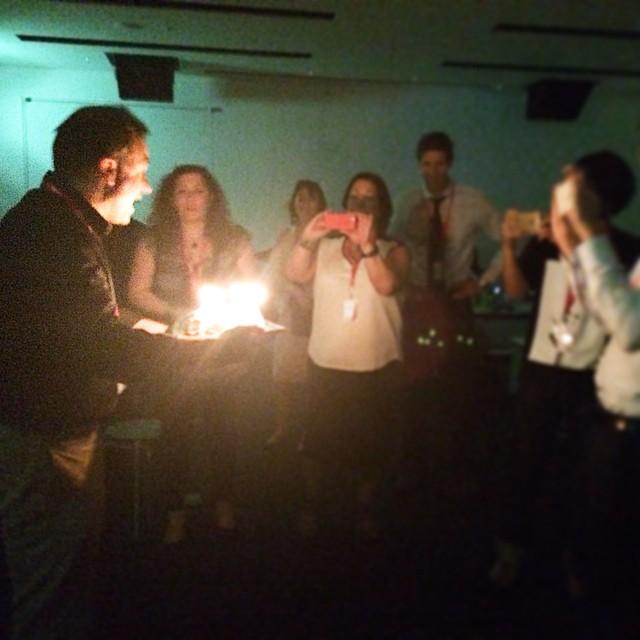 来日中の監督のサプライズパーティーをしました!