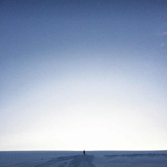 Man on snow