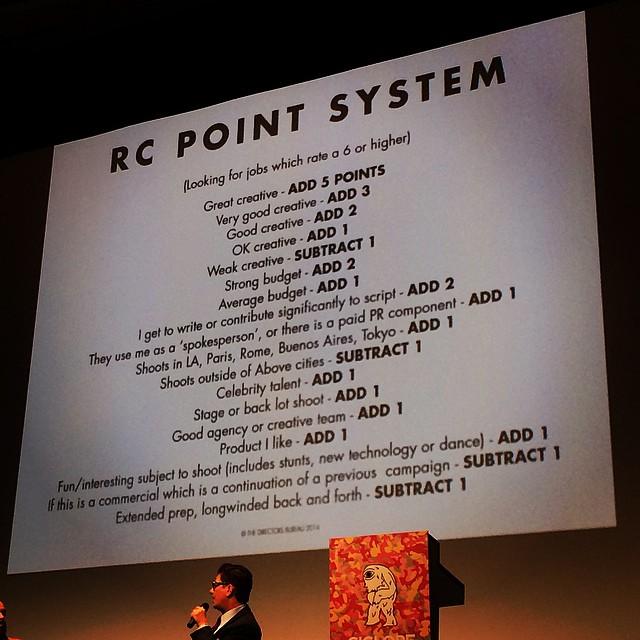 Roman Coppolaの仕事を選ぶポイントシステムw