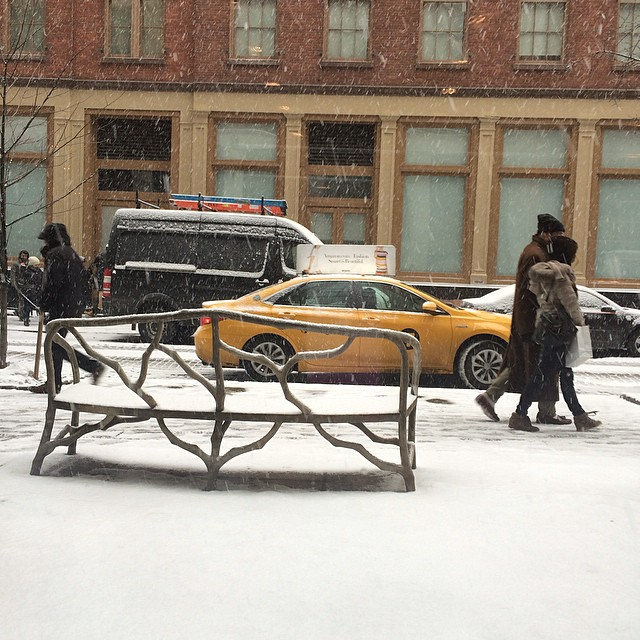 and today its snowing. ny
