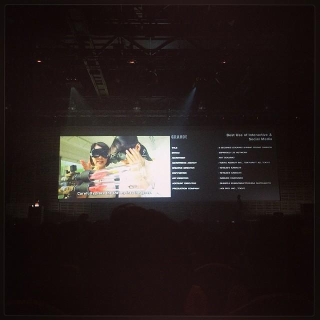 [Adfest] 3秒クッキング、なんと Branded Content & Entertainment 部門でグランデ取りましたー!!!すごい!!おめでとうございます!!!!