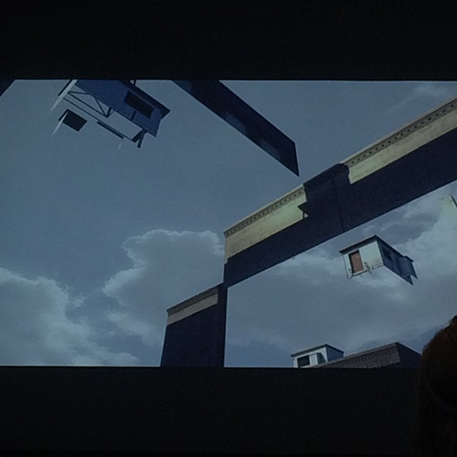 Interesting shot from a video game: the end of the virtual world, from a Doclab presentation on VR