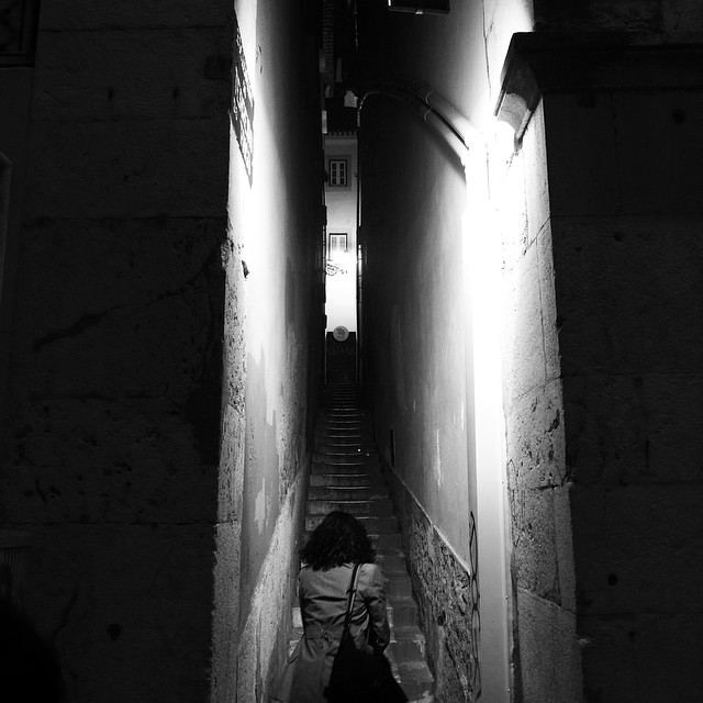 Narrow street in lisbon