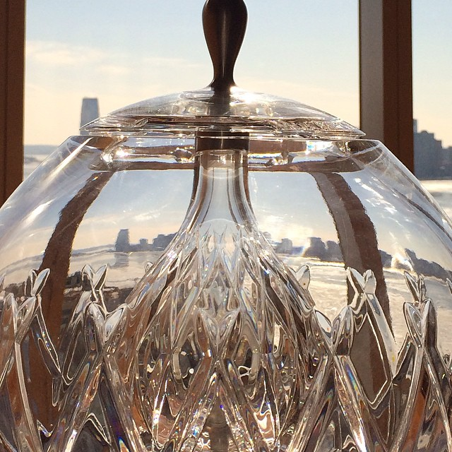 on the other side of the crystal ball are glaciers on the Hudson River.