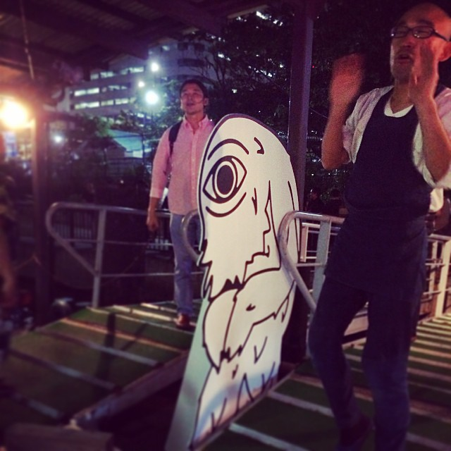 Last night: Ciclope dude seeing everyone off the Yakatabune.#ciclope festival #world tour