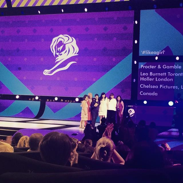 注目の#likeagirl、まずはDirectでゴールド受賞!#AOIcannes2015