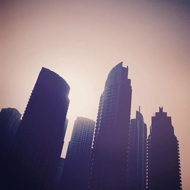 Sunset in Dubai.