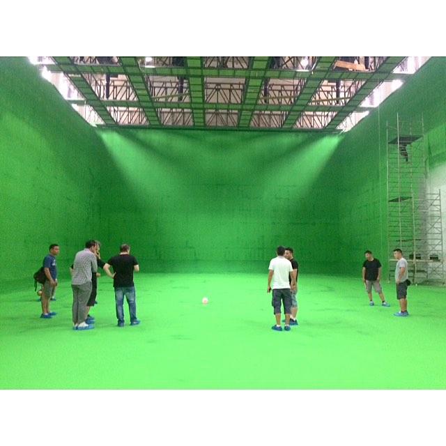 Day before shoot #Shanghai #greenscreen #studio
