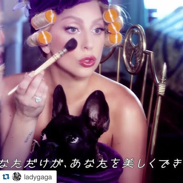 #Repost @ladygaga with @repostapp.・・・Japanese Commercial 'Be Yourself ' Makeup @sarahtannmakeup @fredericaspiras for SHISEIDOso beautiful!