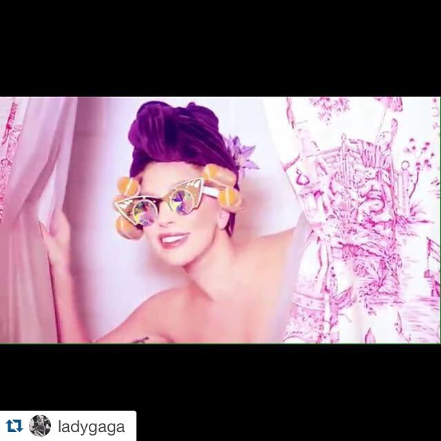 #Repost @ladygaga with @repostapp.・・・' Be Yourself ' Makeup @sarahtannmakeup @fredericaspiras for SHISEIDOits out! yeah!