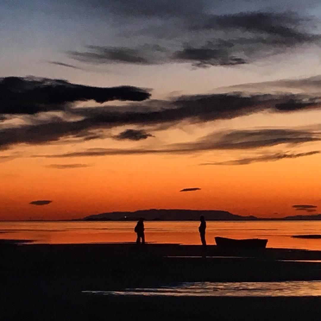 Men at sunset