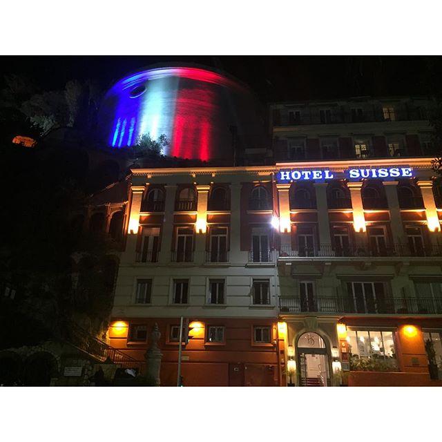 Lighting up the national flag