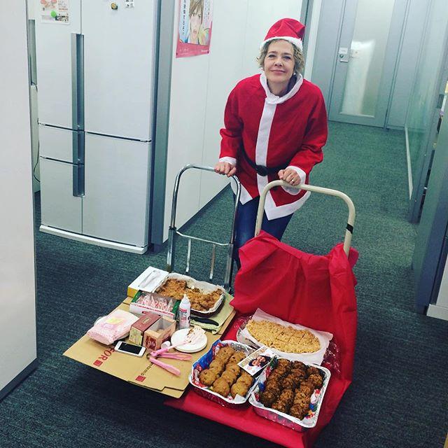 Our Santa is here!!!! Thank you Julie:) #santa #myboss #homemade