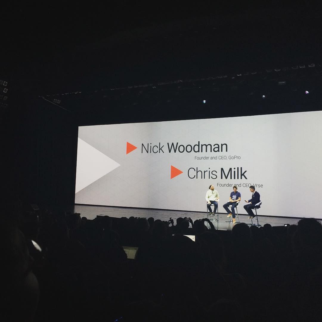 YOUTUBE KeynoteはGoProのCEOとChris Milk!!! コンテンツが先?テクノロジーが先?!