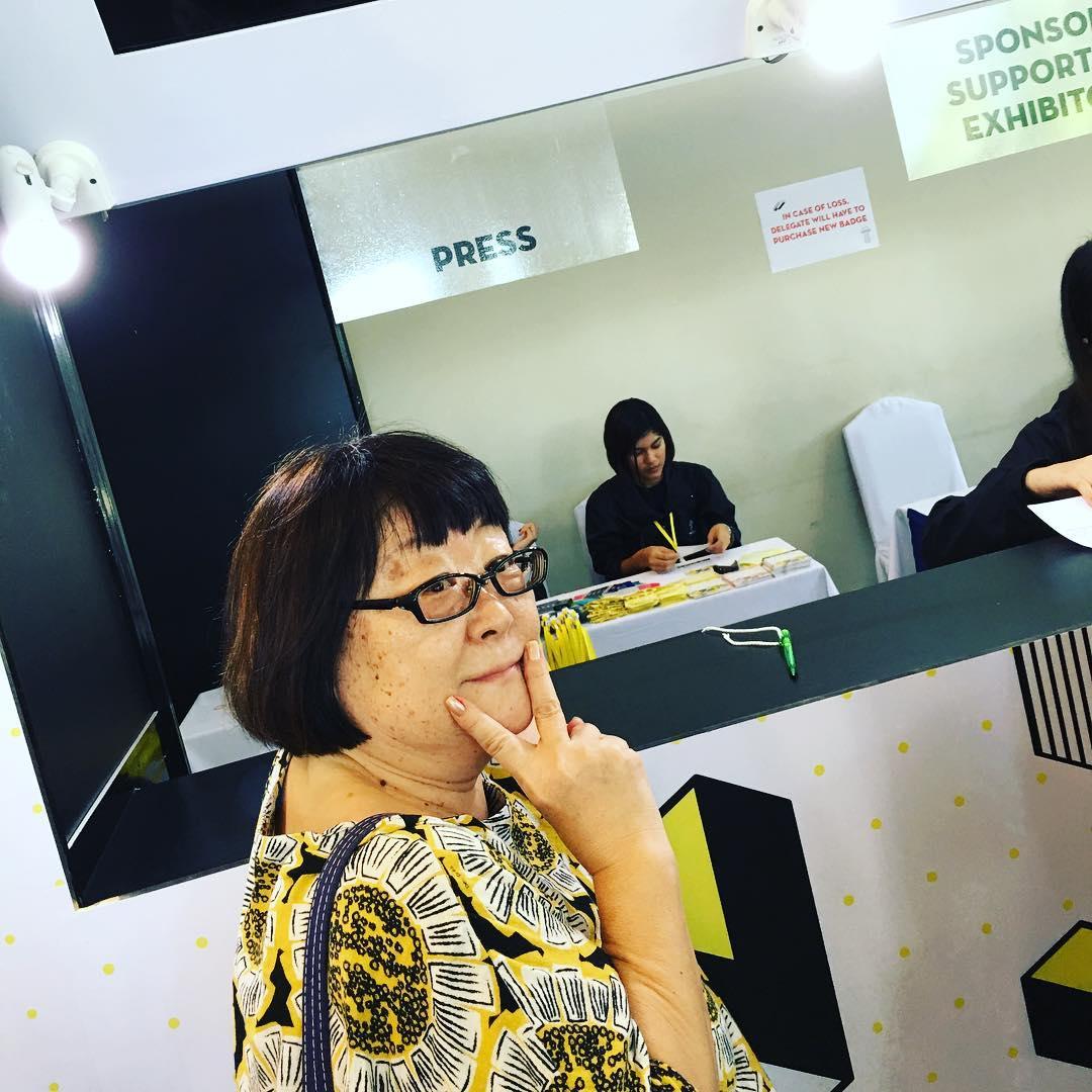 Kay-san registering for
