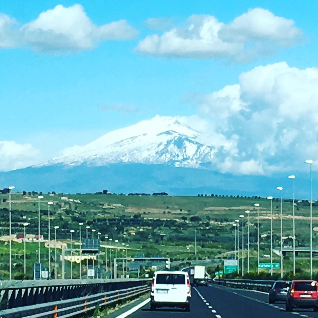 Sicily scout. Mt Etna ahead.