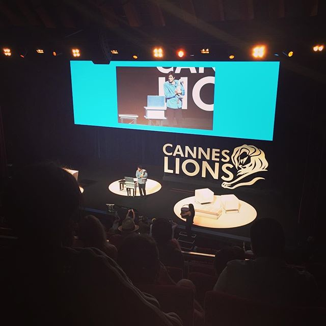 David Copperfield on the stage!!#aoicannes2016 #canneslions